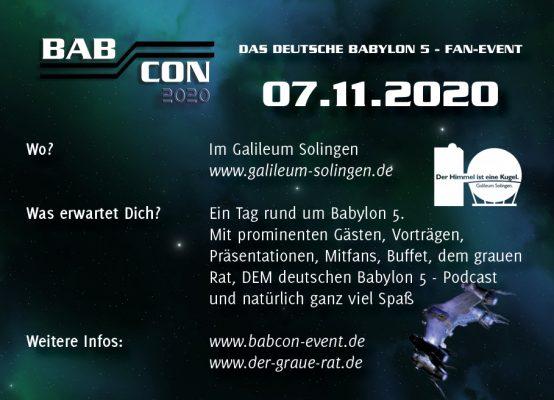 Werbeflyer Babcon2020